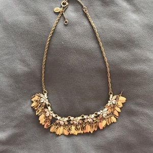 Rhinestone and gold tone Ann Taylor Loft necklace